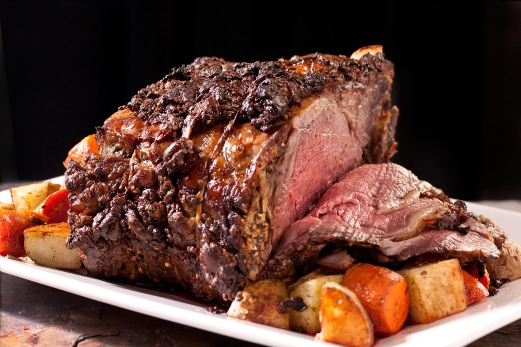 Delicious roast beef with spices