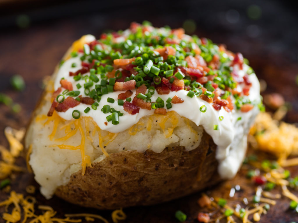 Potato with delicious filling