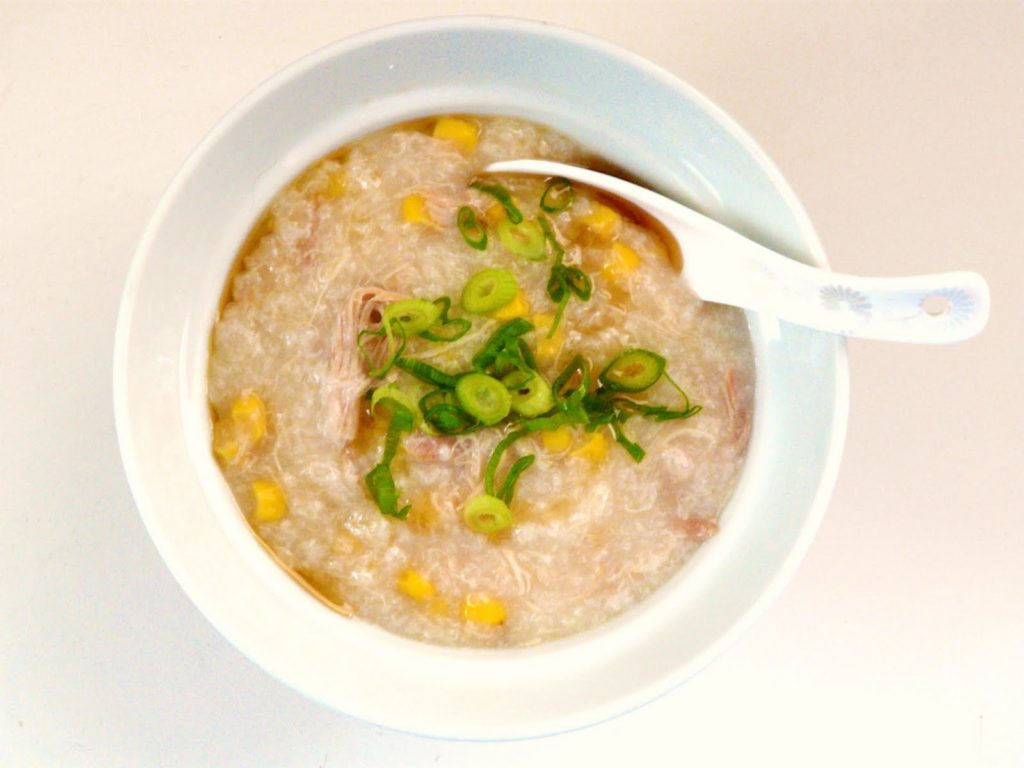 Tasty porridge from corn