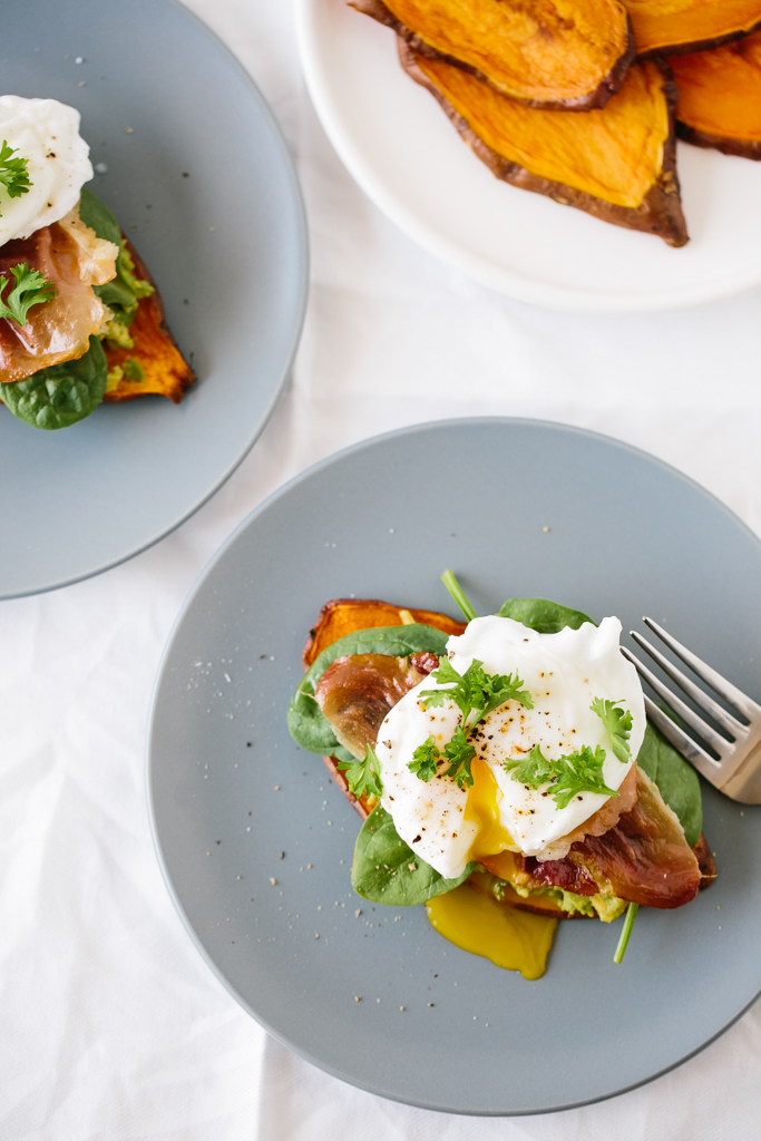 Goatcheese and Egg Sweet Potato Nests
