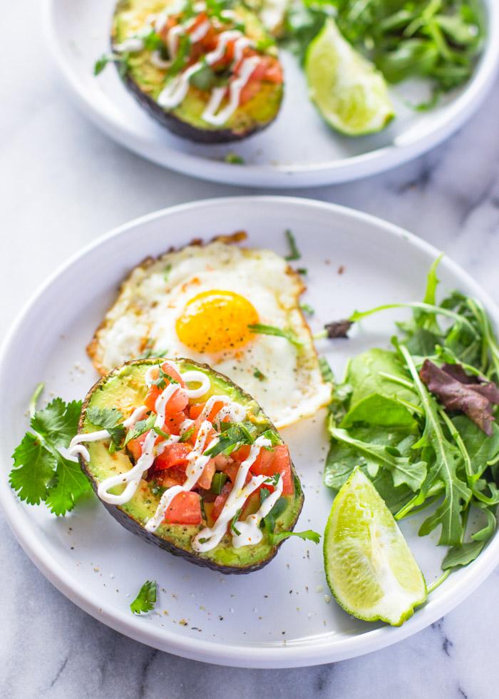 Egg and Bacon Stuffed Avocado Breakfast