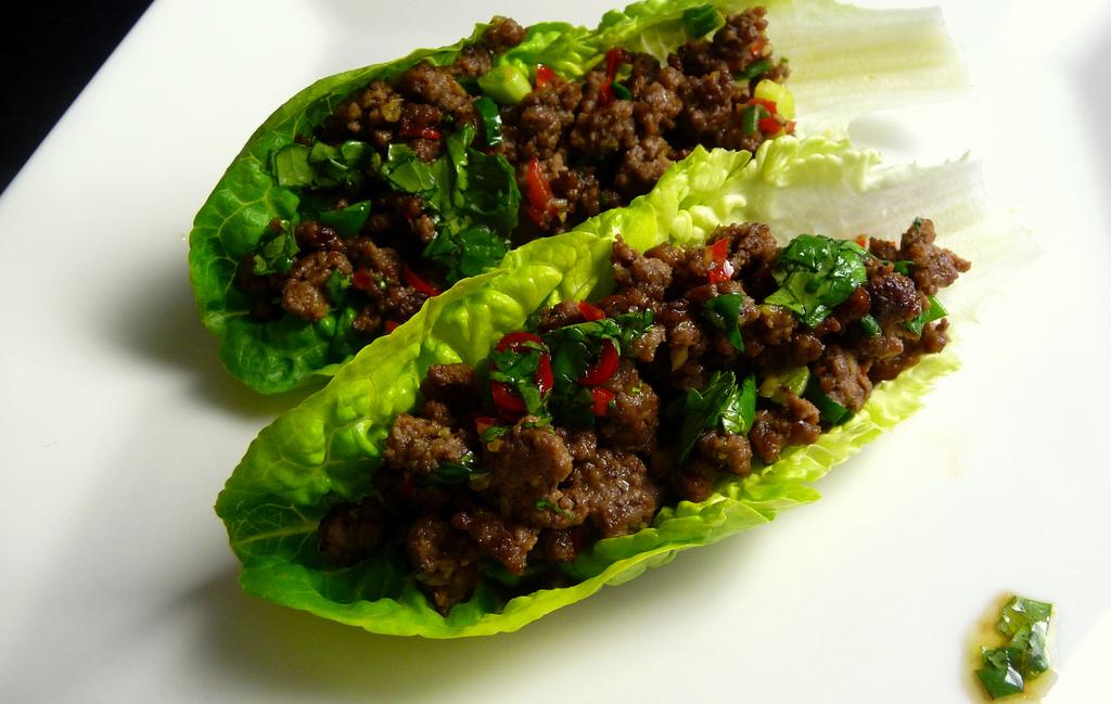 Chili Beef Lettuce Wrap