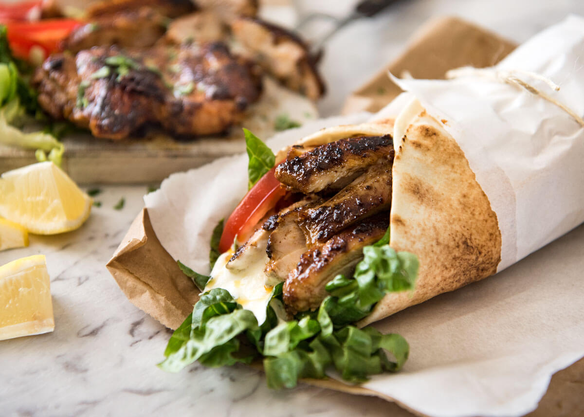 Spicy Shawarma Chicken Wrap