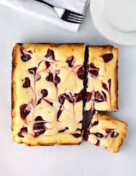 Cottage cheese cake with cherries