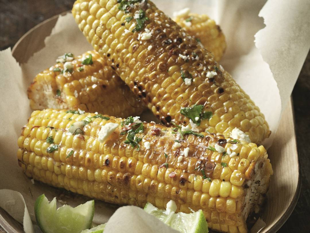 Grilled Corn on the Cob with Chipotle Chili Butter