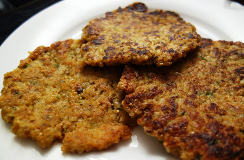 Cutlets with mushrooms and buckwheat