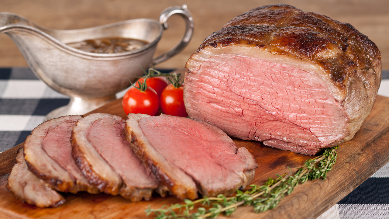 Roast Beef with Caramelized Oninion