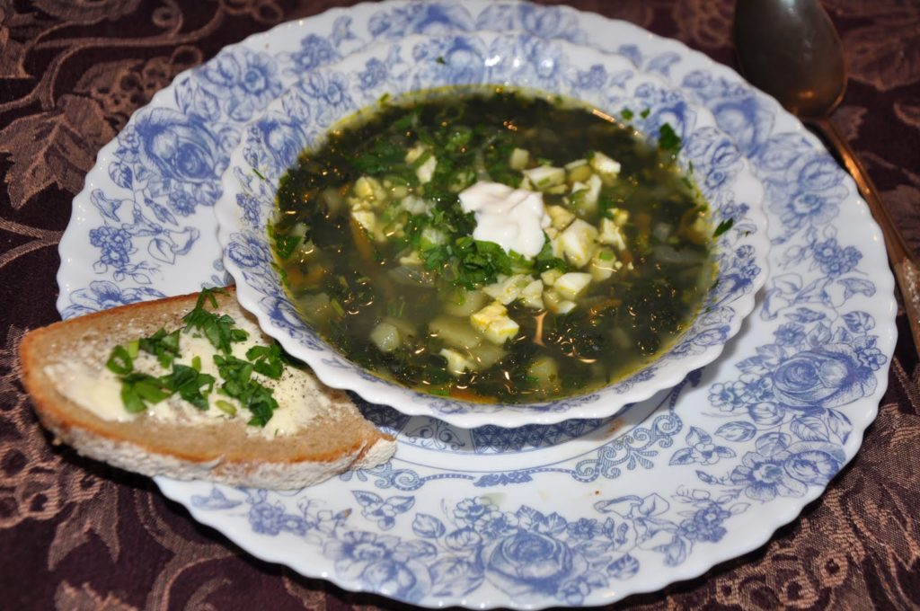 Useful and unusual nettle soup
