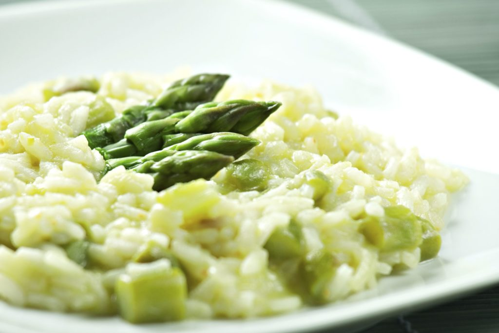 Vegetable risotto in Italian manner