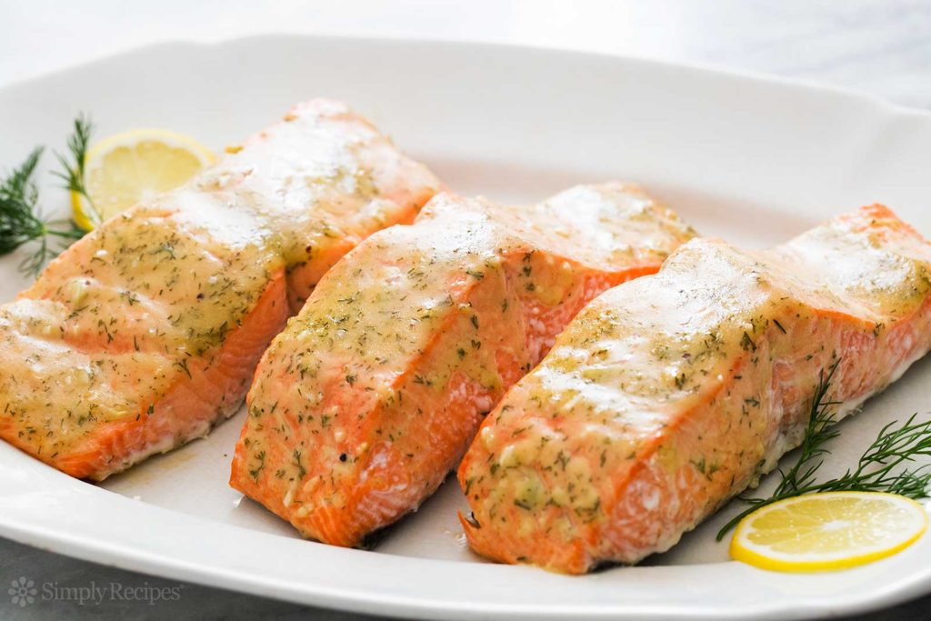 Delicious roasted salmon