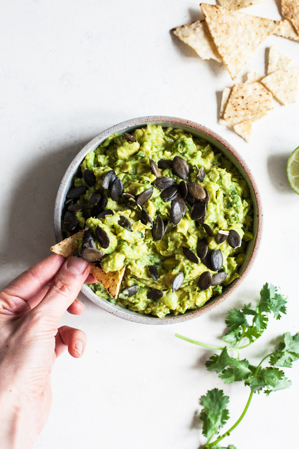 South American Guacamole with Popped Black Beans