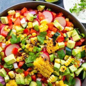 Best Grilled Corn Salad