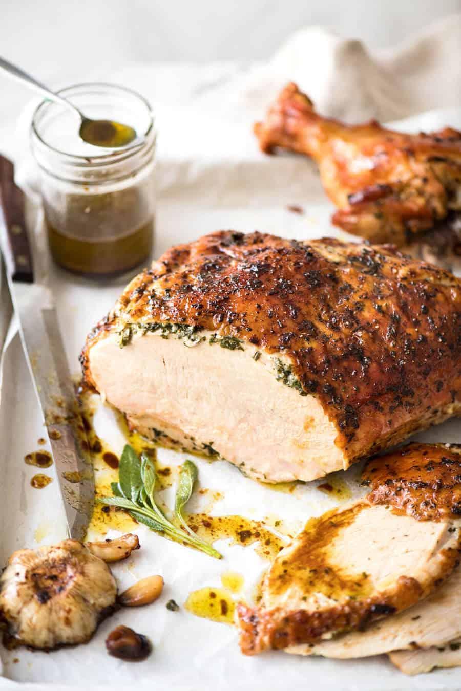 One Pan Juicy Herb-Roasted Turkey