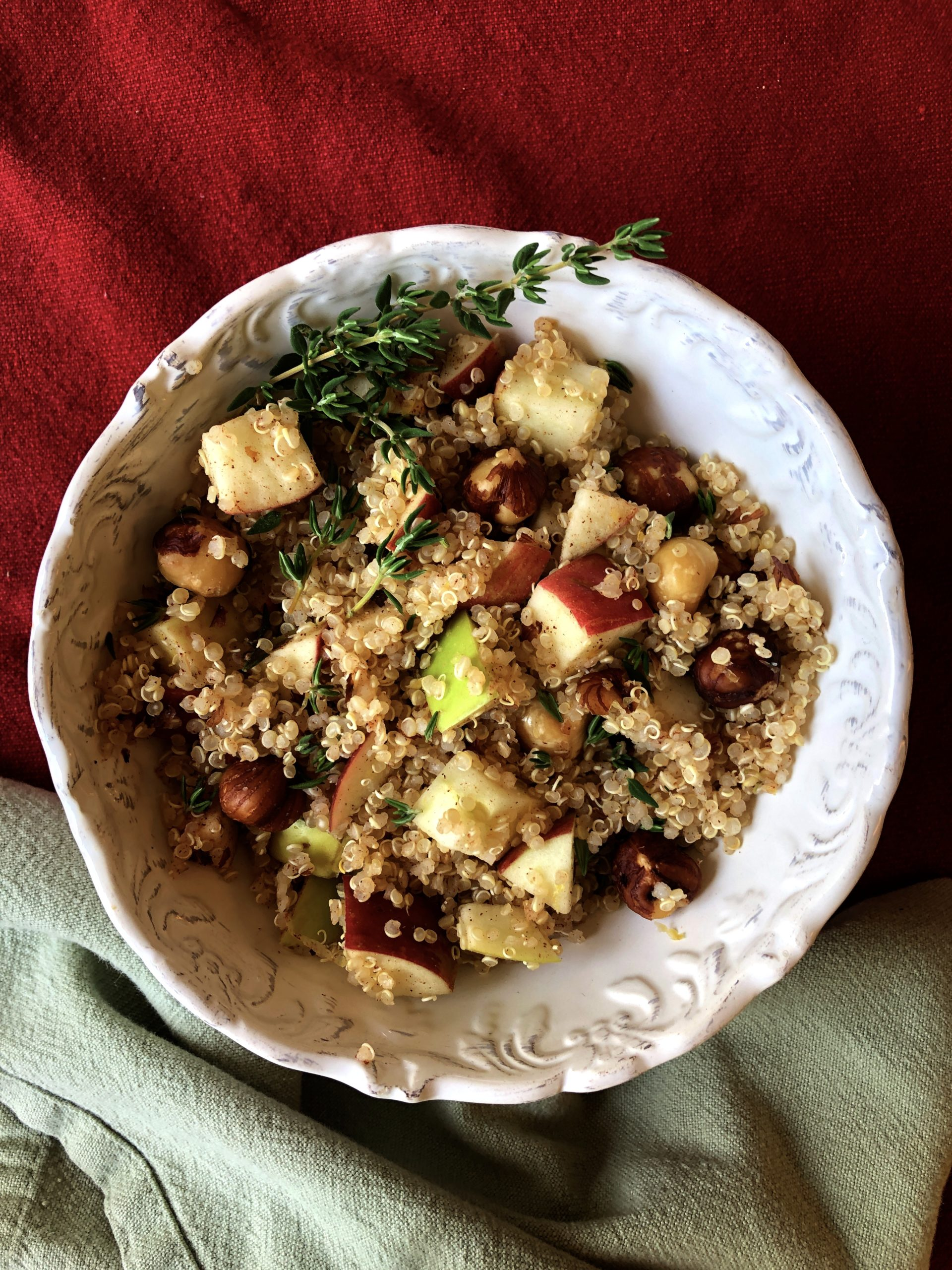 Quinoa and Apple Stuffing
