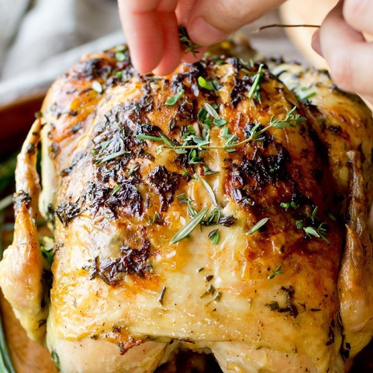 Garlic Herb Butter Roast Chicken