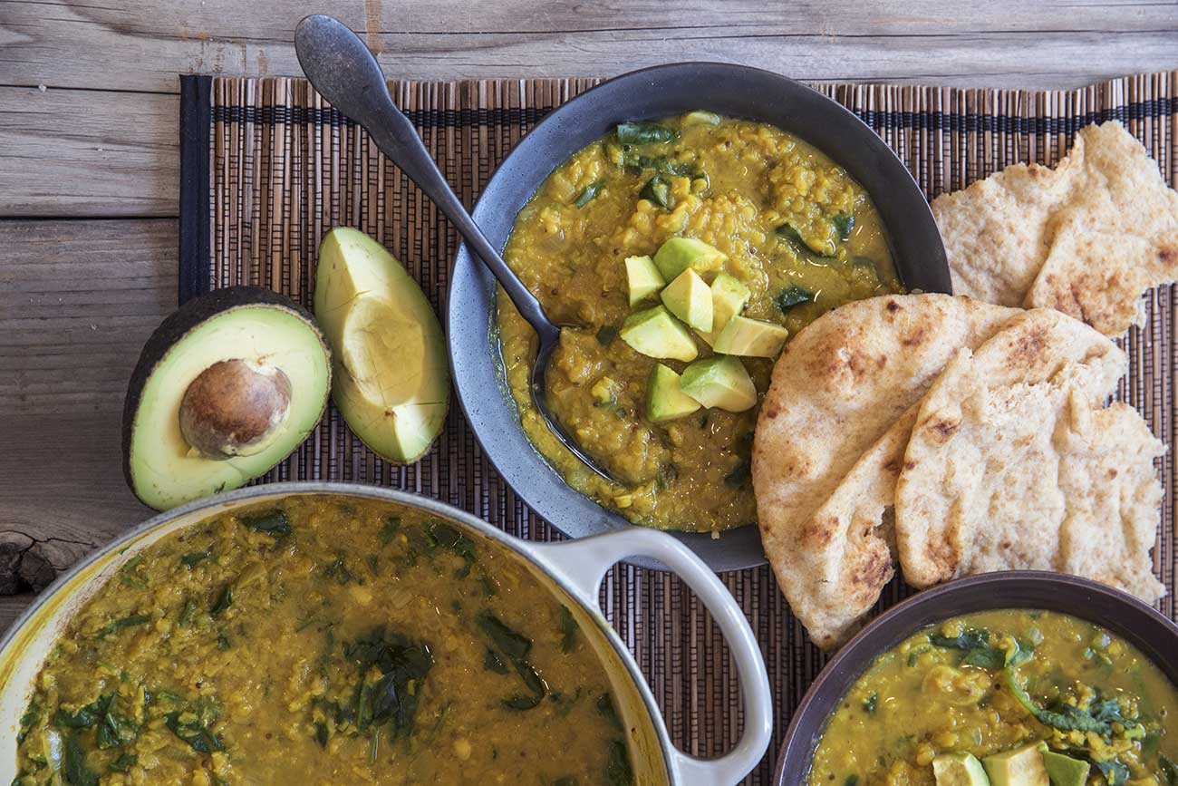 Dhal Soup with Greens