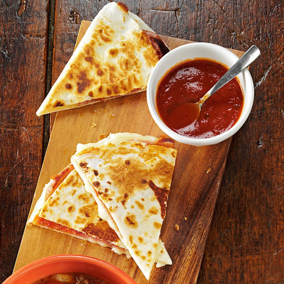 BBQ Chicken Pizza Quesadillas