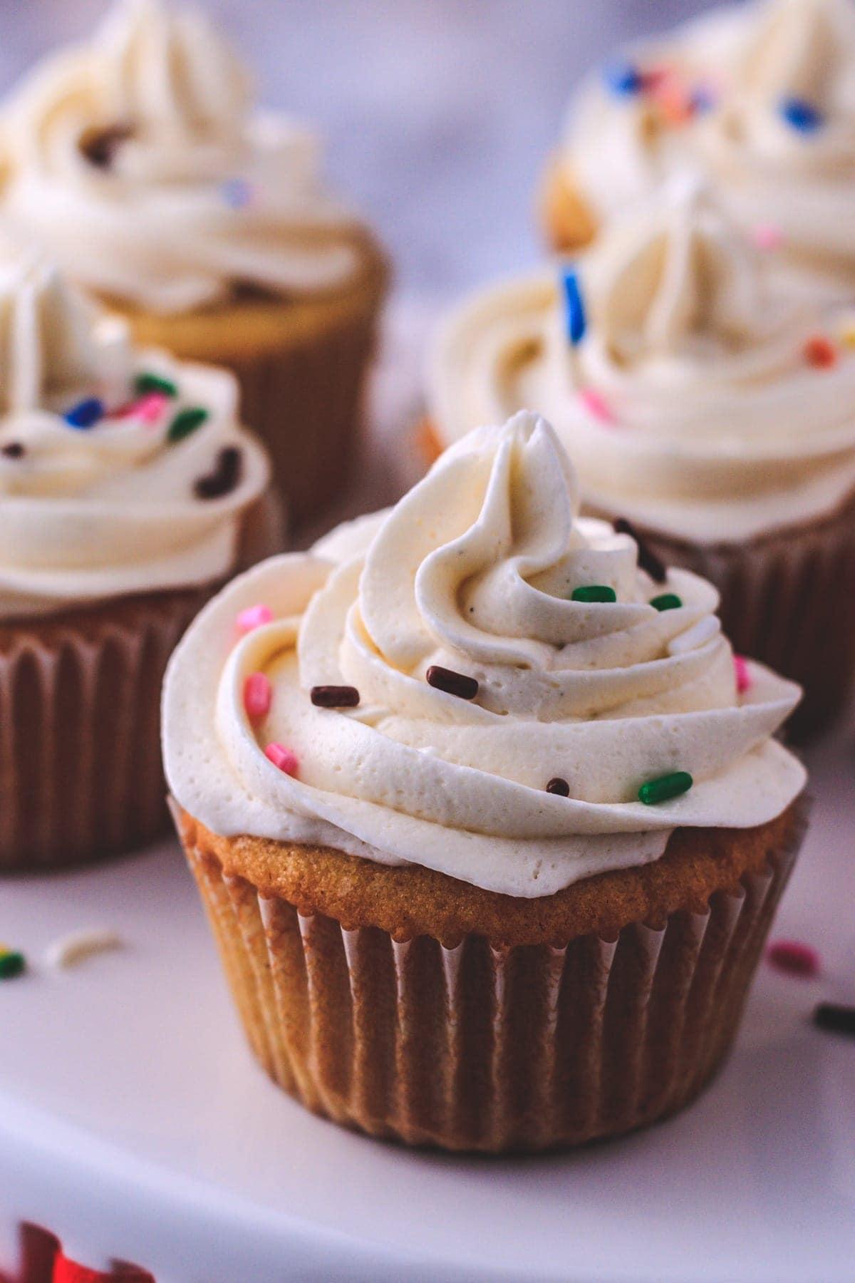 Eggless Vanilla Cupcake Recipe